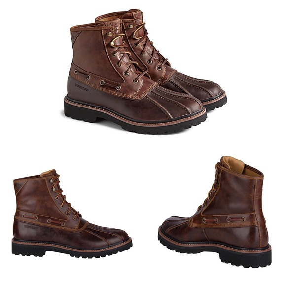 New Speery Mens Gold Cup Lug Duck Boots